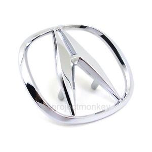 OEM-Honda-94-01-Acura-Integra-Front-Bumper-Chrome-034-A-034-Emblem-Badge-Genuine-USDM