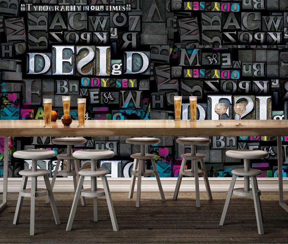 3D Farbeful English Letters 331 Wall Paper Wall Print Decal Wall AJ WALLPAPER CA