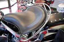 "HARLEY CHOPPER BOBBER 16"" POLICE SOLO SEAT + CHROME BUDDY SEAT HANDRAIL LA ROSA"