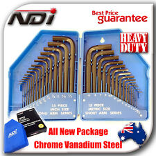 NDI 30PCS METRIC + IMPERIAL COMBINATION ALLEN HEX WRENCH KEY SET ND-0702