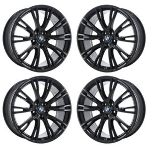 Details About 21x8 5 21x9 5 Bmw X3 X3m Black Wheels Rims Factory Oem 2018 2019 Set 86365 86368