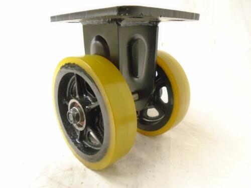 "6/"" Forged Kingpinless ERGO Maintenance Free Swivel Caster /&Rigid Prec Sealed Brg"
