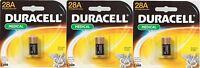 3 Duracell 28a 6v Alkaline Battery Medical Electronics Photo Garage Door Collar