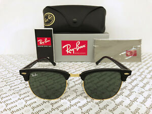a1fc119f7a Image is loading Ray-Ban-Clubmaster-Sunglasses-RB3016-W0365-Black-Frame-