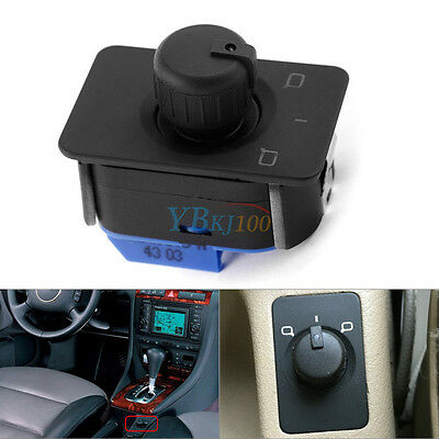 Auto Car Mirror Switch Control Knob with Memory Black for Audi A6 C5 1998-2005