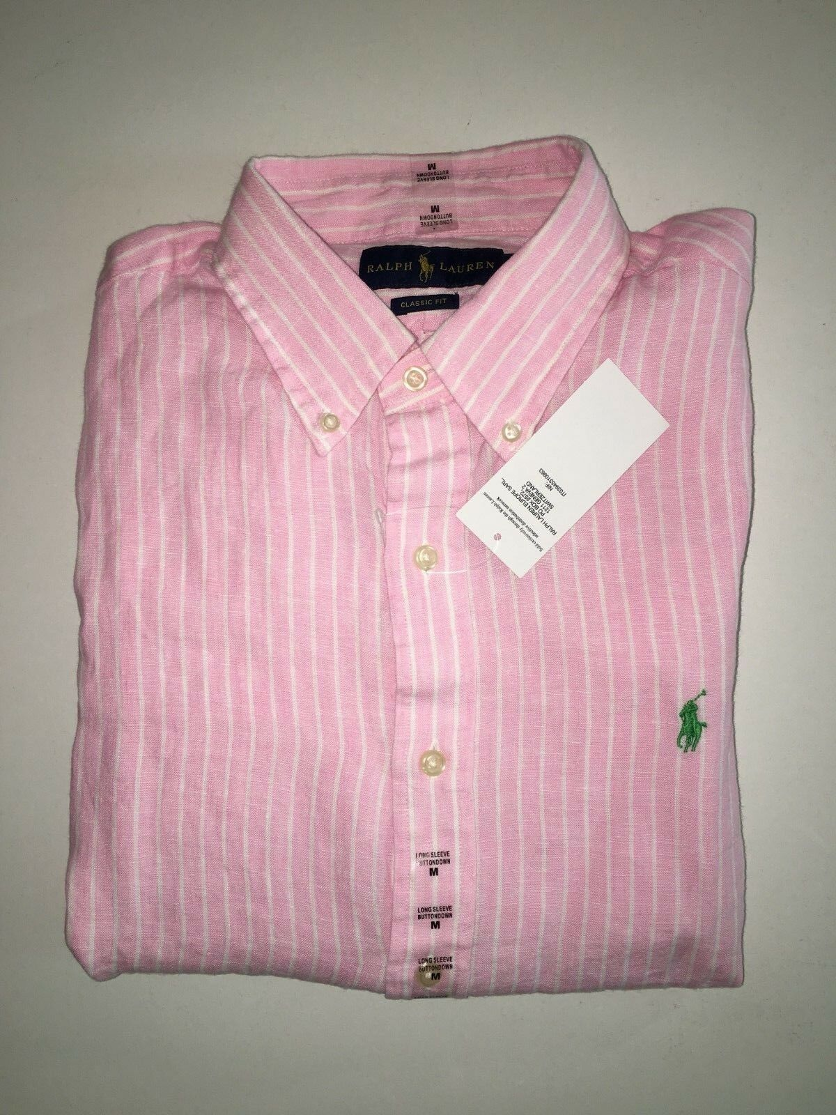 POLO RALPH LAUREN Long Sleeve Button-Down Pure Linen ShirtPRP