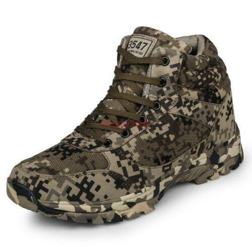 Men/'s Casual camouflage military Ankle Boots outdoor hiking Sneakers Shoes