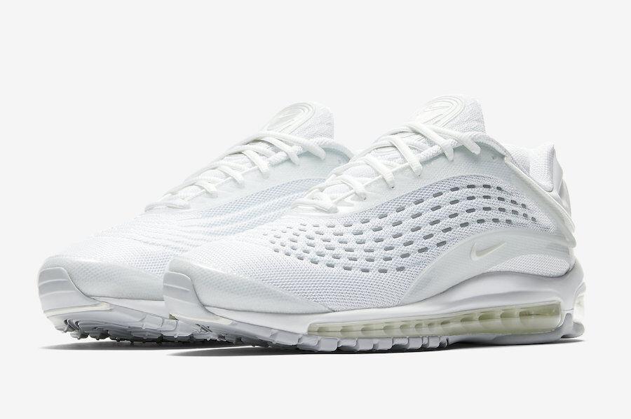 2018 Nike Air Max Deluxe SZ 9 Triple blanc Reflective Pure Platinum AV2589-100