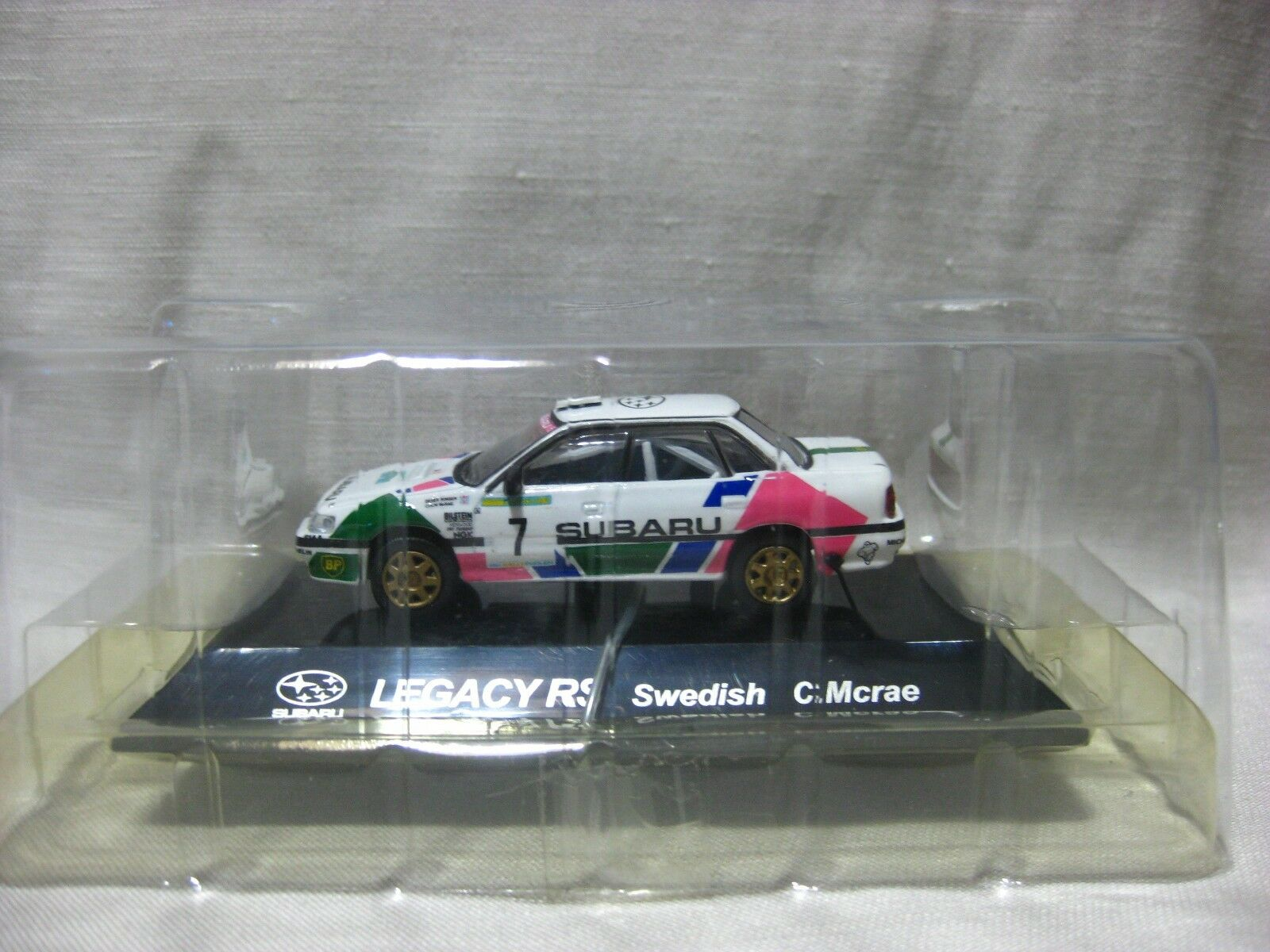 SUBARU LEGACY RS Swedish C.Mcrae 1 64 Scale CM's Rally Car Collection