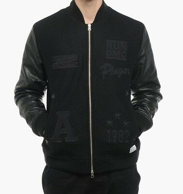 Adidas Originals Run DMC Bomber Jacket M64169 leather wool M rare superstar   eBay