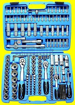 BGS 2292 Werkzeugkoffer Knarrenkasten 192tg mit 3 Ratschen Nüssen Bits Torx XZN
