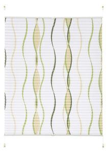 klemmfix plissee wei gr n gemustert dinara thermorollo ab 40 cm easyfix rollo ebay. Black Bedroom Furniture Sets. Home Design Ideas