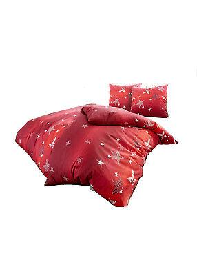 Bettwaren, -wäsche & Matratzen Sinnvoll 2tlg 4tlg Bettwäsche Rot Mit Stern Feinbiber 135 X 200 I 155 X 220 Bettwaren 836 Gute QualitäT