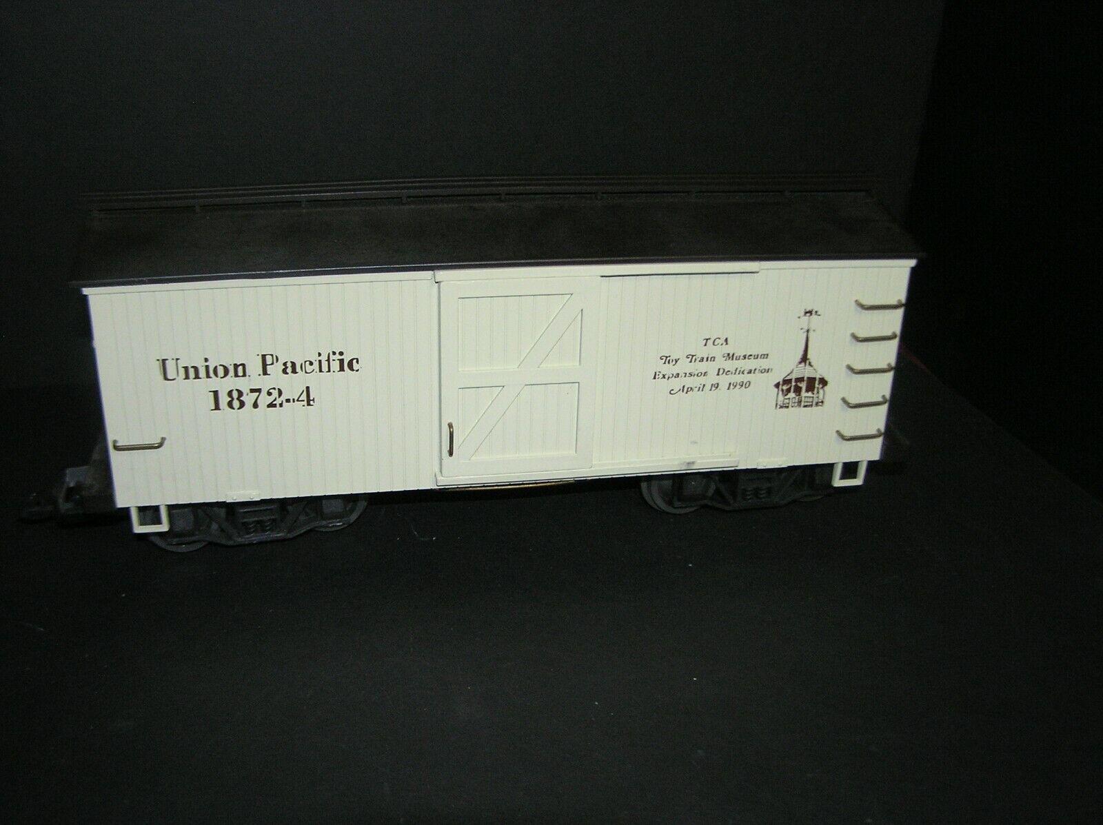 Kalamazoo G Gauge Union Pacific Box Car TCA Museum 1990 LGB Couplers (H)
