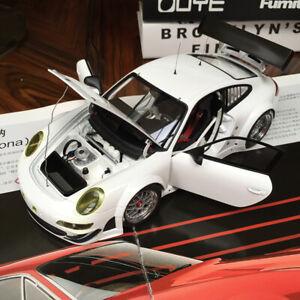 Nuevo-1-18-Autoart-Porsche-911-997-GT3-RSR-plainbody-Blanco-automovil-de-Fundicion-Modelo-81073