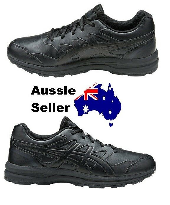 NEW! Asics Adult Mens Gel Mission Work Casual Walk Gym Shoe All Black Q802Y 9016 Wild casual shoes