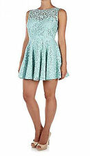 DRESS MINT GREEN LACE DROP BACK SIZE 18 NEW