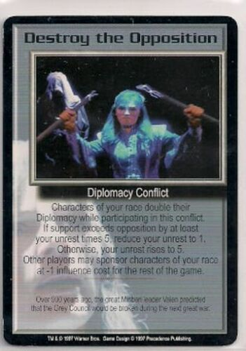Babylon 5 CCG Promo Destroy the Opposition EX Niet-sportkaarten Verzamelingen