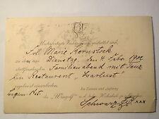München - Wingolf - Einladung zum Familienabend mit Tanz - 1902 / Studentika
