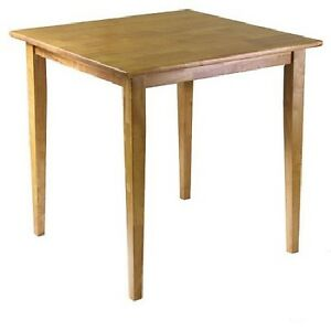 oak dining table kitchen solid wood square small room wooden space saving dorm ebay. Black Bedroom Furniture Sets. Home Design Ideas