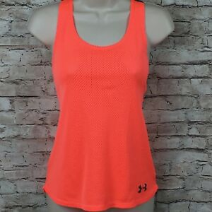 42085950afc9f S24 Under Armour Girls YLG Neon orange Mesh Sleeveless Loose Heat ...