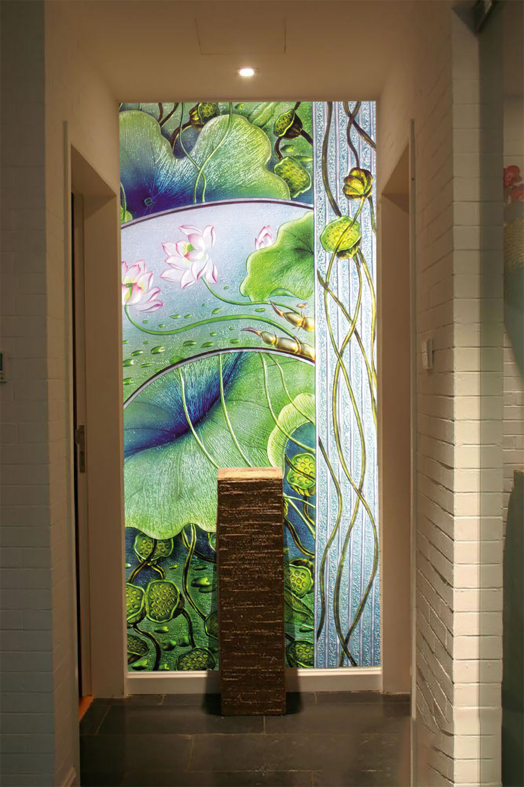 3D Lotus Leaf Water Paper Wall Print Wall Decal Wall Deco Indoor Murals