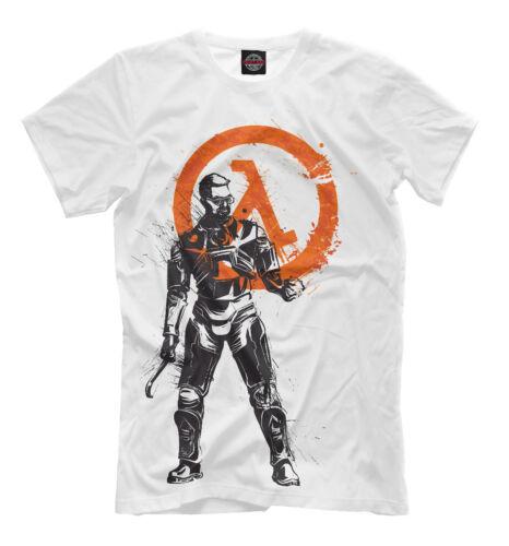 Gordon Freeman print fan gamer clothing video game tee Dr Half-Life t-shirt