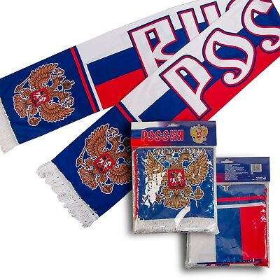 Polyester Cleaning The Oral Cavity. Fine Russian Scarf Flag Russia Rossiya With Coat Of Arms Fan Apparel & Souvenirs