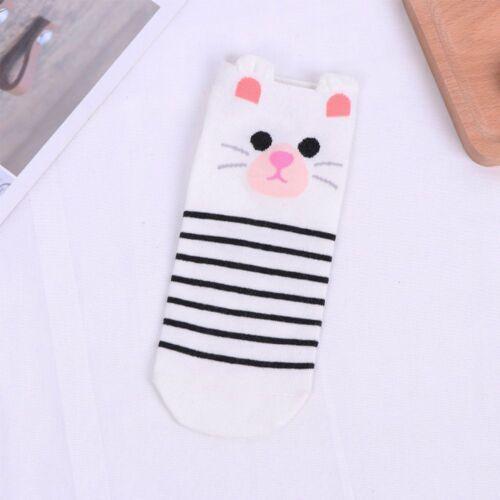 Mujeres de moda dibujos animados Animales Diseño Calcetines al tobillo Calcetines Barco Calcetines de Algodón Corte Bajo