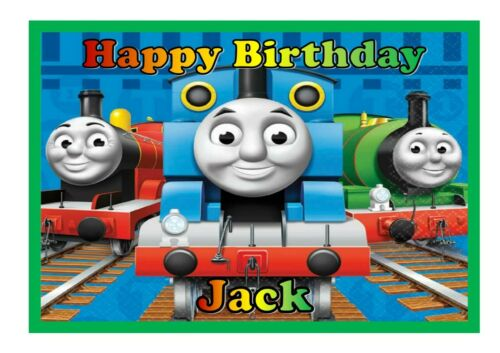 Details about  /A4 Edible Thomas The Tank cake topper available on rice paper or icing sheet