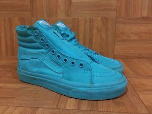 RARE-VANS-Sk8-Hi-Turquoise-Blue-Tiffany-Sz-5-Men-6-5-Women-Hi-Top-Sneakers-S