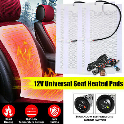 TiooDre 2pcs Universal Carbon Fiber Car Seat Heater Kit Seat Heater Pads Element Covers Heating Mats Heated Seat Cushion for Cars