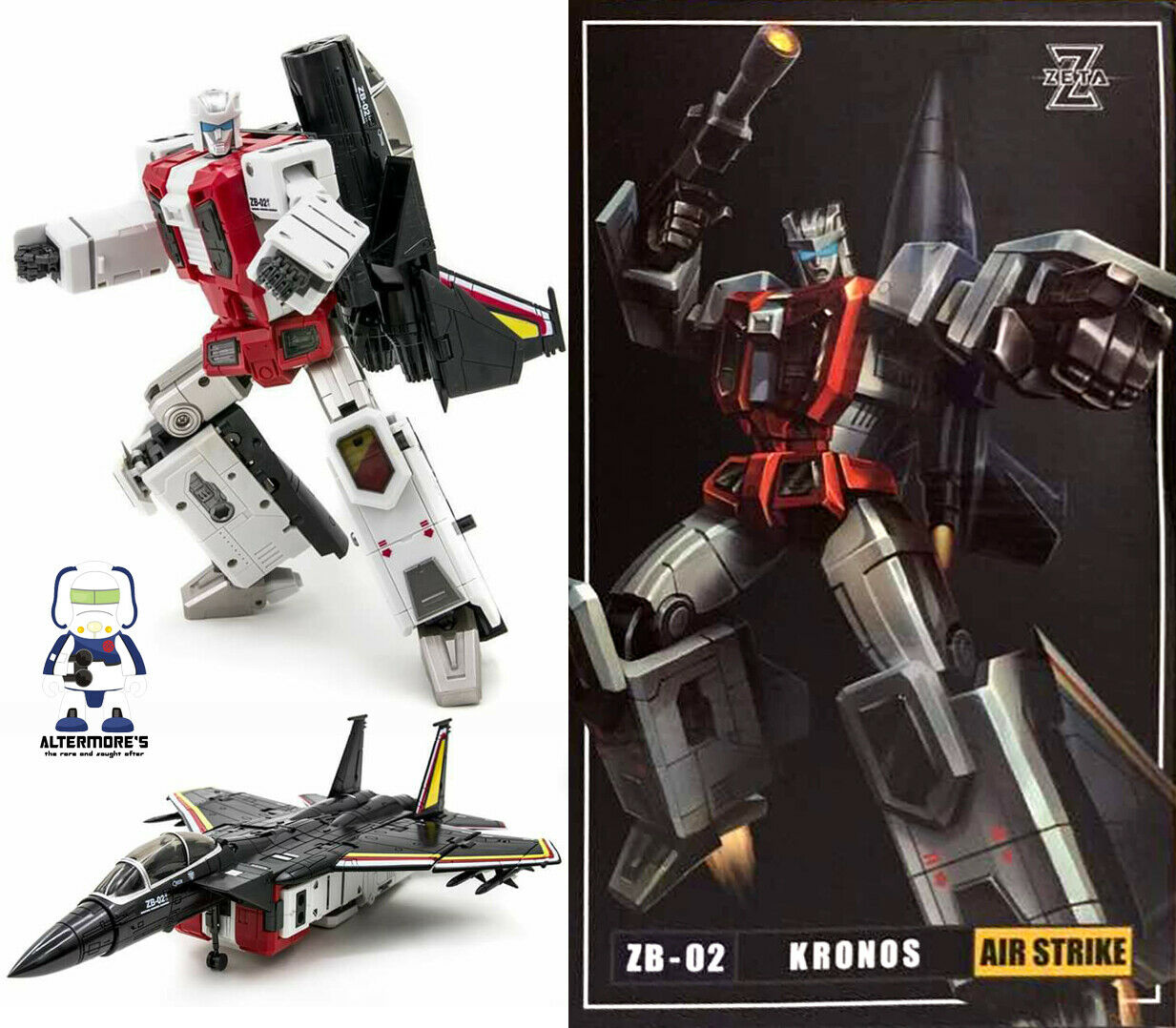 Transformers Masterpiece Zeta Toys ZB-02 Air Strike   MP Air Raid Brand New