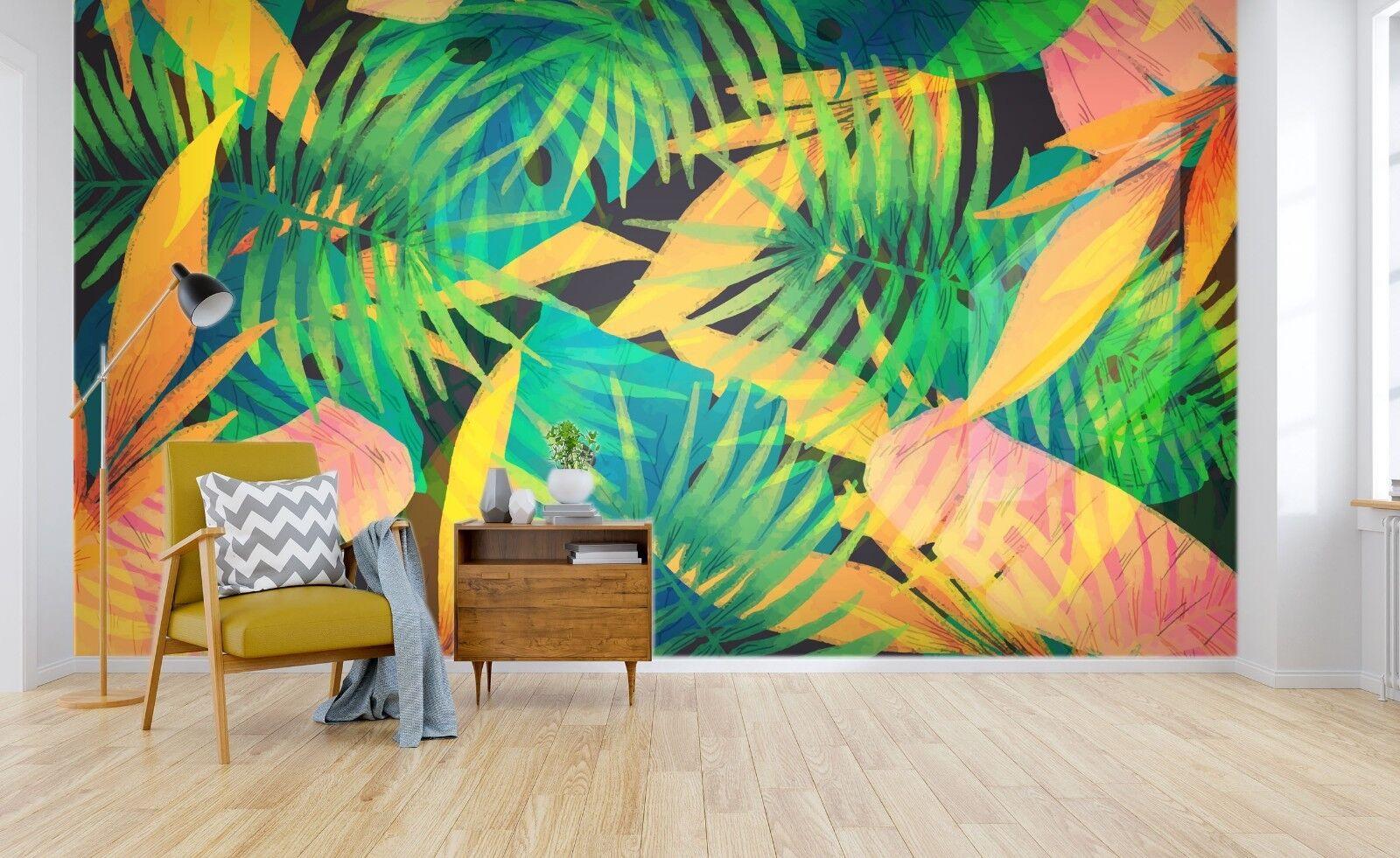 3D Grün Leaves Image 45 Wallpaper Murals Wall Print Wallpaper Mural AJ WALL UK