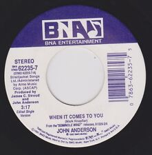 JOHN ANDERSON {90s Country} When It Comes To You / Cold Day In Hell ♫HEAR nm