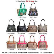 Wholesale Lot - 10 Women's G & M Style Handbags - Premium Designer Purses