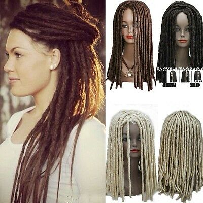 African Style Fashion Weave Dreadlocks Wig Long Curl Rolls Hair Costume Wig