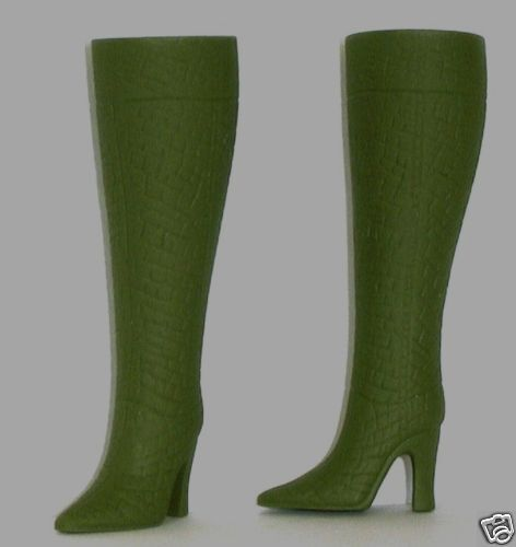 "OLIVE GREEN Doll Boots fit CANDI 11-12/"" Silkstone Barbie Integrity FR"