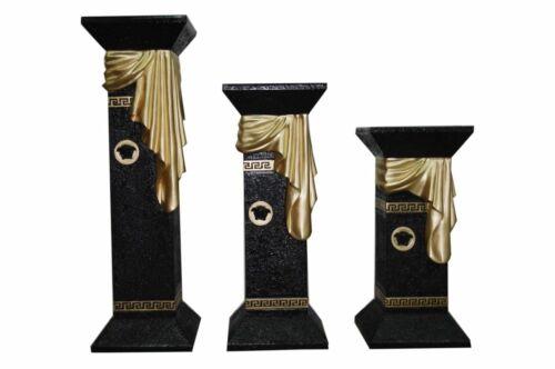 Medusa Säule Blumensäule Blumenständer Versa Serie Gold Schwarz Antike Fossil