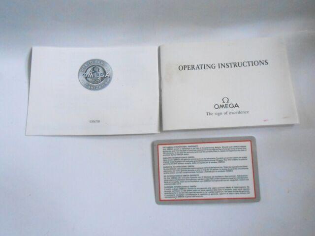 original omega operating instructions card blank  ebay