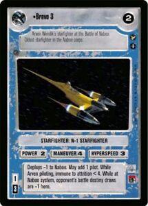 Star Wars CCG Theed Palace Rare Bravo Fighter