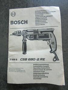 Bosch-Schlagbohrmaschine-CSB-680-2RE-Bedienungsanleitung