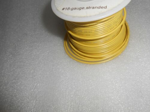 MTH MARX A.F 10/' LENGTH OF 18-GAUGE YELLOWPLASTIC INSULATED WIRE FOR LIONEL