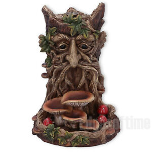 WISEST-DRYAD-GREEN-MAN-CONE-INCENSE-BACKFLOW-BURNER-TREE-SPIRIT-PAGAN-WICCA-18CM