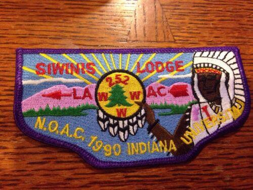 MINT OA Flap  Lodge 252 Siwinis Purple  Border 1990 NOAC