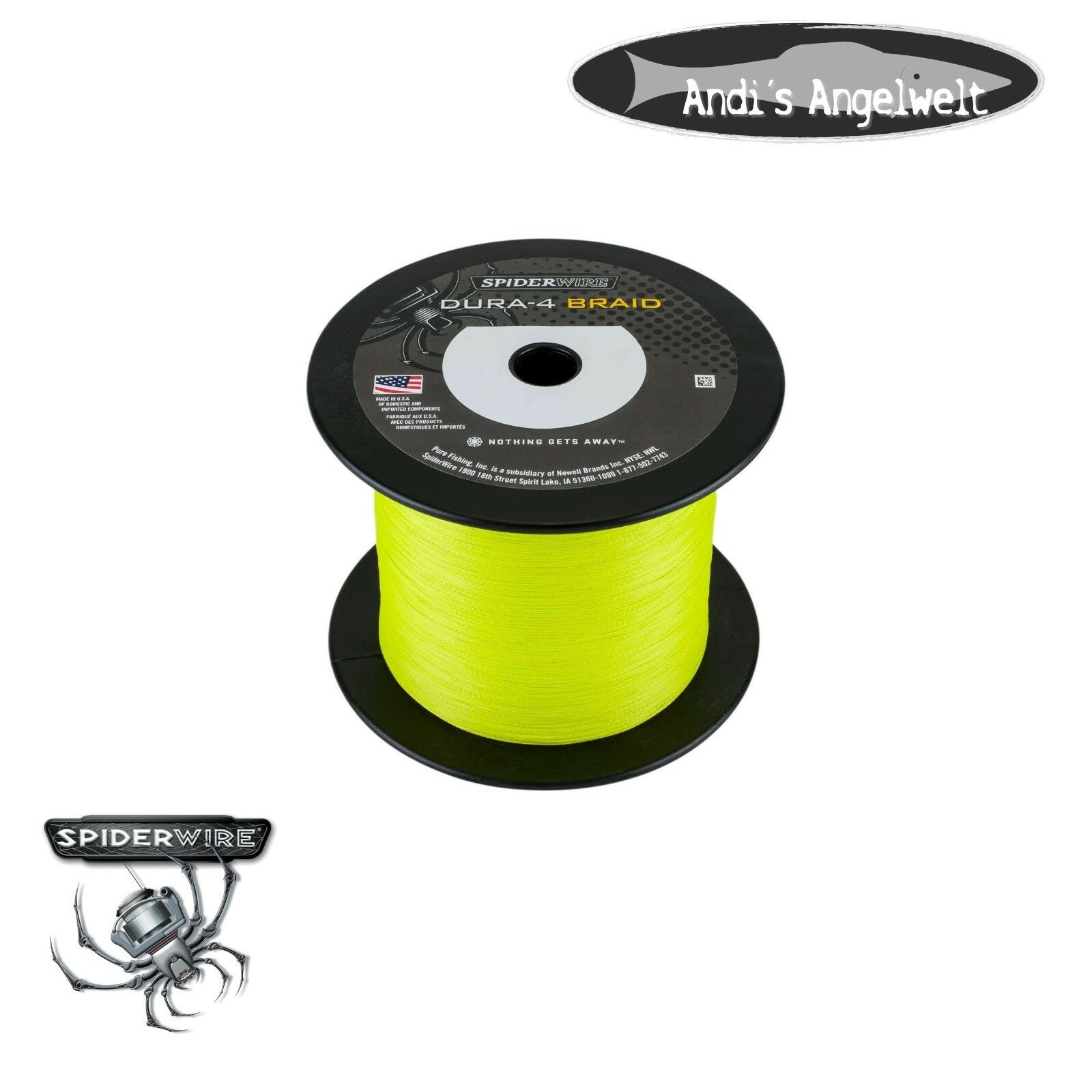 Spiderwire Dura 4-Braid 1800m  YELLOW geflochtene Schnur alle Größen  hot sales