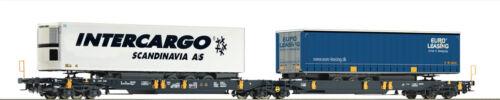 ROCO 76416 Doppeltaschenwagen WASCOSA Auf Wunsch Achstausch für Märklin gratis