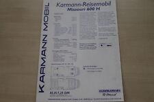 179829) VW LT Karmann Missouri 600 H - Preise & Extras - Prospekt 09/1997