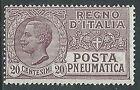 1925 REGNO POSTA PNEUMATICA EFFIGIE 20 CENT MNH ** - Y050
