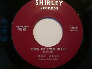 SOUL-45-RAY-AGEE-OPEN-UP-YOUR-HEART-THE-GAMBLE-on-SHIRLEY-M-CLEAN